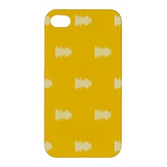 Waveform Disco Wahlin Retina White Yellow Apple Iphone 4/4s Premium Hardshell Case by Mariart