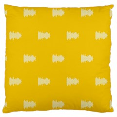 Waveform Disco Wahlin Retina White Yellow Large Cushion Case (one Side) by Mariart
