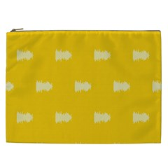Waveform Disco Wahlin Retina White Yellow Cosmetic Bag (xxl)  by Mariart