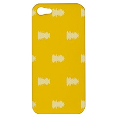 Waveform Disco Wahlin Retina White Yellow Apple Iphone 5 Hardshell Case by Mariart