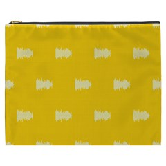 Waveform Disco Wahlin Retina White Yellow Cosmetic Bag (xxxl)  by Mariart