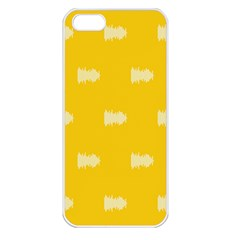 Waveform Disco Wahlin Retina White Yellow Apple Iphone 5 Seamless Case (white) by Mariart