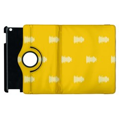 Waveform Disco Wahlin Retina White Yellow Apple Ipad 3/4 Flip 360 Case by Mariart