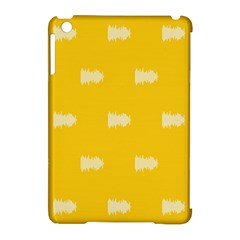 Waveform Disco Wahlin Retina White Yellow Apple Ipad Mini Hardshell Case (compatible With Smart Cover) by Mariart