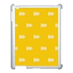 Waveform Disco Wahlin Retina White Yellow Apple Ipad 3/4 Case (white) by Mariart