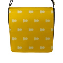 Waveform Disco Wahlin Retina White Yellow Flap Messenger Bag (l)  by Mariart