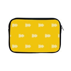 Waveform Disco Wahlin Retina White Yellow Apple Ipad Mini Zipper Cases by Mariart
