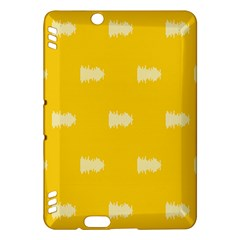 Waveform Disco Wahlin Retina White Yellow Kindle Fire Hdx Hardshell Case by Mariart