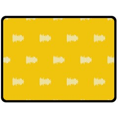 Waveform Disco Wahlin Retina White Yellow Double Sided Fleece Blanket (large)  by Mariart