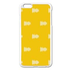 Waveform Disco Wahlin Retina White Yellow Apple Iphone 6 Plus/6s Plus Enamel White Case by Mariart