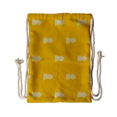 Waveform Disco Wahlin Retina White Yellow Drawstring Bag (small) by Mariart