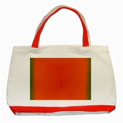 Scarlet Pimpernel Writing Orange Green Classic Tote Bag (red)