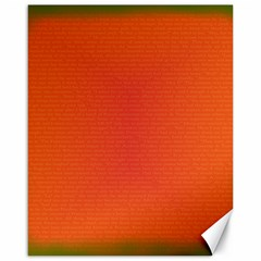 Scarlet Pimpernel Writing Orange Green Canvas 16  X 20   by Mariart