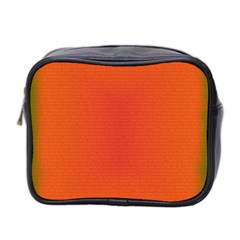 Scarlet Pimpernel Writing Orange Green Mini Toiletries Bag 2 Side by Mariart