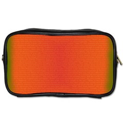 Scarlet Pimpernel Writing Orange Green Toiletries Bags by Mariart