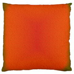 Scarlet Pimpernel Writing Orange Green Large Cushion Case (two Sides) by Mariart