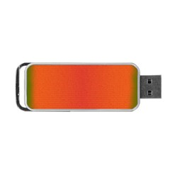 Scarlet Pimpernel Writing Orange Green Portable Usb Flash (two Sides) by Mariart