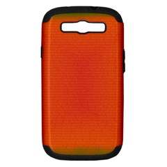 Scarlet Pimpernel Writing Orange Green Samsung Galaxy S Iii Hardshell Case (pc+silicone) by Mariart