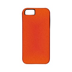 Scarlet Pimpernel Writing Orange Green Apple Iphone 5 Classic Hardshell Case (pc+silicone) by Mariart