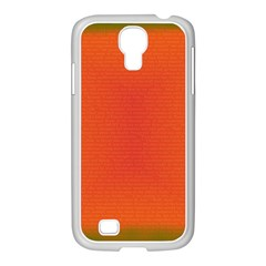 Scarlet Pimpernel Writing Orange Green Samsung Galaxy S4 I9500/ I9505 Case (white) by Mariart