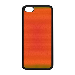 Scarlet Pimpernel Writing Orange Green Apple Iphone 5c Seamless Case (black) by Mariart