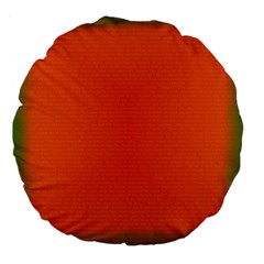 Scarlet Pimpernel Writing Orange Green Large 18  Premium Flano Round Cushions by Mariart