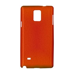 Scarlet Pimpernel Writing Orange Green Samsung Galaxy Note 4 Hardshell Case by Mariart