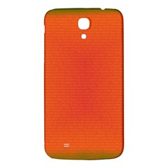 Scarlet Pimpernel Writing Orange Green Samsung Galaxy Mega I9200 Hardshell Back Case by Mariart
