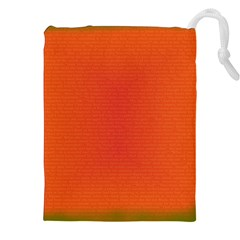 Scarlet Pimpernel Writing Orange Green Drawstring Pouches (xxl) by Mariart