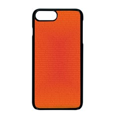 Scarlet Pimpernel Writing Orange Green Apple Iphone 7 Plus Seamless Case (black) by Mariart