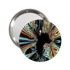 Silver Gold Hole Black Space 2 25  Handbag Mirrors by Mariart