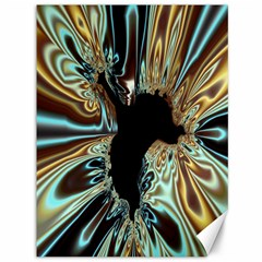 Silver Gold Hole Black Space Canvas 36  X 48   by Mariart