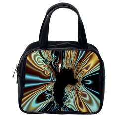 Silver Gold Hole Black Space Classic Handbags (one Side) by Mariart