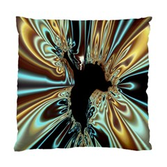 Silver Gold Hole Black Space Standard Cushion Case (one Side) by Mariart
