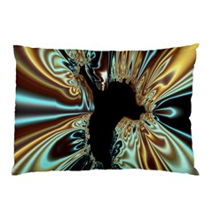 Silver Gold Hole Black Space Pillow Case (two Sides) by Mariart