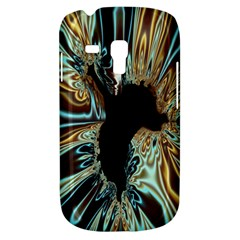 Silver Gold Hole Black Space Galaxy S3 Mini by Mariart