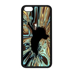 Silver Gold Hole Black Space Apple Iphone 5c Seamless Case (black) by Mariart