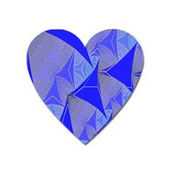 Wave Chevron Plaid Circle Polka Line Light Blue Triangle Heart Magnet by Mariart