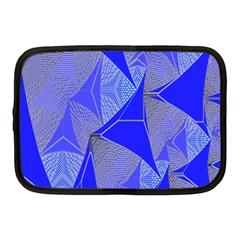 Wave Chevron Plaid Circle Polka Line Light Blue Triangle Netbook Case (medium)  by Mariart