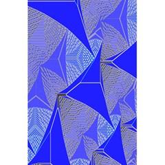 Wave Chevron Plaid Circle Polka Line Light Blue Triangle 5 5  X 8 5  Notebooks by Mariart