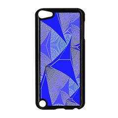 Wave Chevron Plaid Circle Polka Line Light Blue Triangle Apple Ipod Touch 5 Case (black) by Mariart