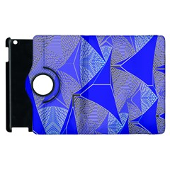 Wave Chevron Plaid Circle Polka Line Light Blue Triangle Apple Ipad 2 Flip 360 Case by Mariart