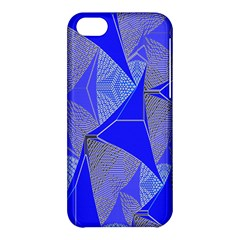Wave Chevron Plaid Circle Polka Line Light Blue Triangle Apple Iphone 5c Hardshell Case by Mariart