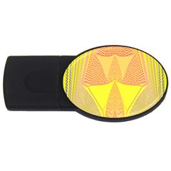 Wave Chevron Plaid Circle Polka Line Light Yellow Red Blue Triangle Usb Flash Drive Oval (4 Gb) by Mariart