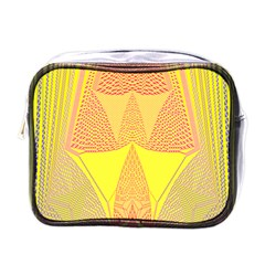 Wave Chevron Plaid Circle Polka Line Light Yellow Red Blue Triangle Mini Toiletries Bags by Mariart