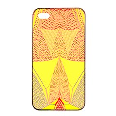 Wave Chevron Plaid Circle Polka Line Light Yellow Red Blue Triangle Apple Iphone 4/4s Seamless Case (black) by Mariart