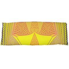 Wave Chevron Plaid Circle Polka Line Light Yellow Red Blue Triangle Body Pillow Case Dakimakura (two Sides) by Mariart
