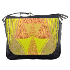 Wave Chevron Plaid Circle Polka Line Light Yellow Red Blue Triangle Messenger Bags by Mariart