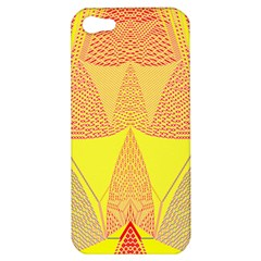 Wave Chevron Plaid Circle Polka Line Light Yellow Red Blue Triangle Apple Iphone 5 Hardshell Case by Mariart