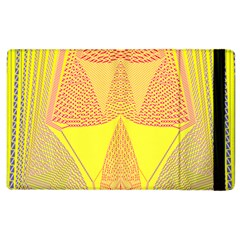 Wave Chevron Plaid Circle Polka Line Light Yellow Red Blue Triangle Apple Ipad 2 Flip Case by Mariart